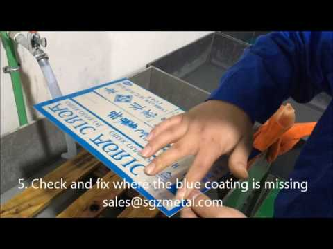 SGZ Hydro-coated Magnesium Plate etching video