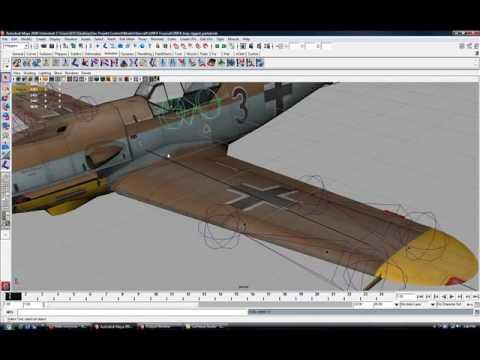 Xxx Mp4 Attempt At Rigging In Maya Bf 109F4 Trop 3gp Sex