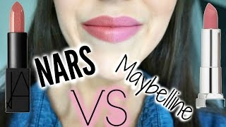 Nars Audacious Lipstick VS Maybelline Creamy Matte - Half/Half Review