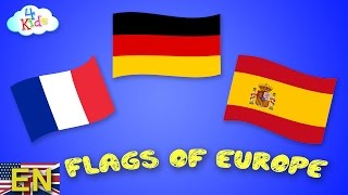 All Flags and Countries of Europe learning for Children and Toddlers (english)