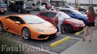 LAMBORGHINI GOLD DIGGER PRANK - 16 YEAR OLD PICKING UP GIRLS