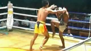Myanmar lethwei, Tway McShawn vs Tun Tun, KO fight