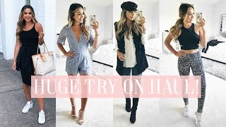 HUGE NORDSTROM SALE TRY ON HAUL! FALL CLOTHES, SHOES, FITNESS!