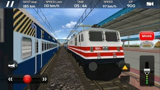 Indian Train Simulator 2018 - Free Android GamePlay   Express Train Driving Game - Engine WAP 4