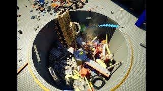 Lego Vehicle Into Crushing Pit #1 - Brick Rigs