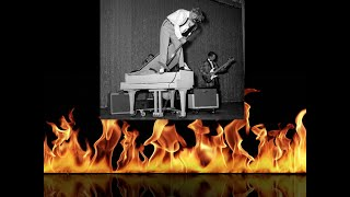 Story how Jerry Lee Lewis set piano on fire and played it until burned down to upstage Chuck Berry