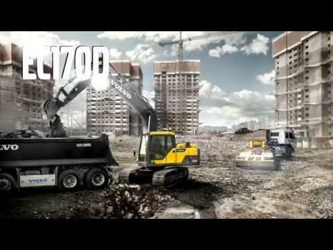 Volvo EC170D Crawler Excavator promotional video