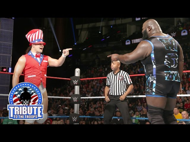 Mark Henry vs. Bo Dallas: WWE Tribute to the Troops 2015
