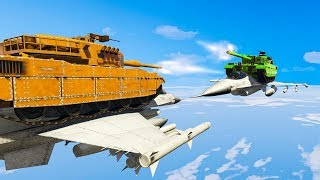 IMPOSSIBLE TANK BATTLE IN THE SKY! (GTA 5 Funny Moments)