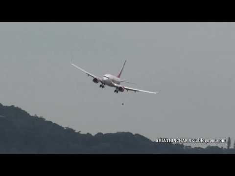 Pouso de avião da GOL no Aeroporto Santos Dumont Rio de Janeiro