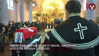 Kıbrıs gazisine kilisede tören