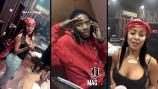 """Fetty Wap & """"BM"""" Alexis Skyy In The Studio Together On IG Live! 🎤"""