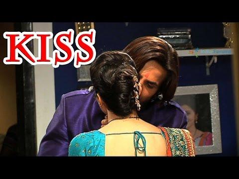Ravi and Devika's first kiss