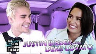 Demi Lovato & Justin Bieber Carpool Karaoke 2017
