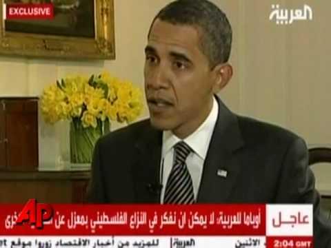 Obama s First Formal Interview on Al Arabiya TV