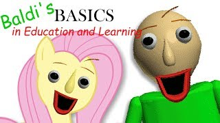 Fluttershy plays Baldi's Basics in Education and Learning 🍉   ONE OF US..