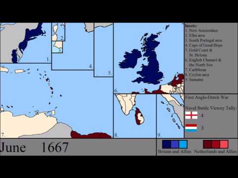 The Anglo - Dutch Wars: Every Month