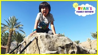HUGE OUTDOOR PLAYGROUND for Children! Slides for Kids Play Area with Ryan