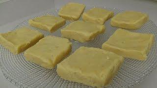 Plain Burfi (Indian Milk Fudge Dessert)