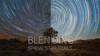 Blending your Spiral Star Trails with a foreground image using photoshop