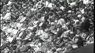 American Charlie Pasarell wins Wimbledon Championship against Spaniard Manuel Mar...HD Stock Footage