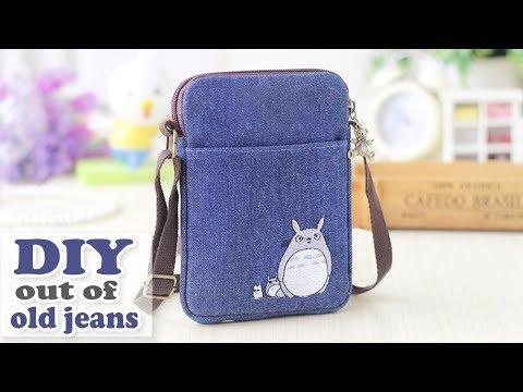 Xxx Mp4 DIY JEANS PURSE BAG Cute Pouch Phone Money Bag Old Jeans Recycle Idea 3gp Sex