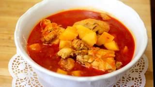 مرقة بطاطا بالدجاج / مركة بتيتة  Chicken Potato Stew