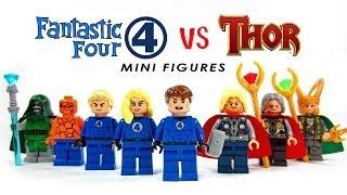 LEGO Fantastic Four vs Thor KnockOff Minifigures (Bootleg)