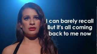 glee  its all coming back to me now lyrics