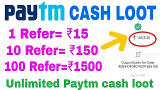 [Paytm Proof] Get ₹15 per Refer Paytm cash|| 10 refer=₹150 ,Unlimited Paytm cash Earning App Forever