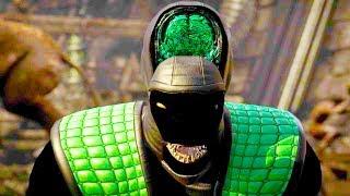Mortal Kombat XL - All Fatalities & X-Rays on Shadow Reptile Costume Mod 4K Ultra HD Gameplay Mods