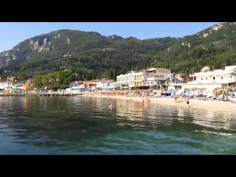 Benitses Beach Corfu Greece June 2015