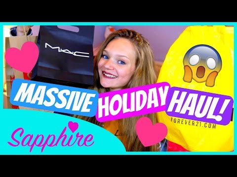 Download Lagu MASSIVE USA HOLIDAY HAUL! | Forever 21, Disney, MAC, Justice + More! MP3