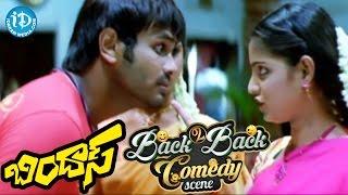 Bindaas Movie Back To Back Comedy Scenes || Manchu Manoj || Brahmanandam || Sunil