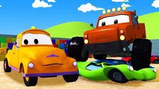 Tom The Tow Truck and the Monster Truck in Car City | Construction cartoon (for children)