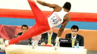 Men's gymnastics international competition in India