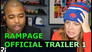 RAMPAGE - OFFICIAL TRAILER 1 [HD] (REACTION 🔥)
