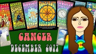 CANCER DECEMBER 2017 - Solid ground! - Saturn-Capricorn Tarot psychic reading forecast predictions