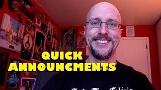 Quick Announcements