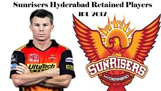 ** IPL 2017 **Sunrisers Hyderabad Full Team Squad || SRH Retained Players 2017