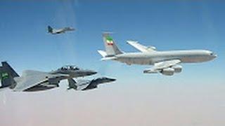 اعتراض صقور الجو السعودي لطائرة ايرانية تحلق فوق اجواء اليمن رهيب جدا!