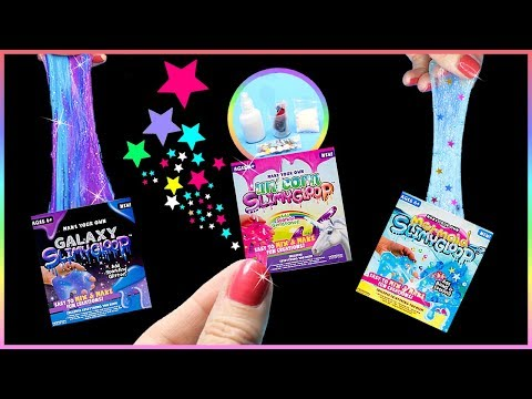 Xxx Mp4 DIY Miniature 5 Slime Kits Unicorn Mermaid Galaxy Slime DIYs Tiny Slime Kits Tested 3gp Sex