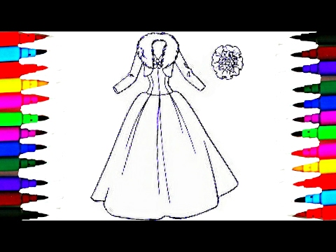BARBIE Glamour Dress 3 BEST LEARNING Coloring Book l Pages Videos For Children Learn Rainbow Colors