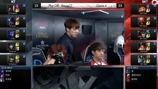 SKT vs KT Game 4 Highlights - SK TELECOM T1 vs KT ROLSTER - LCK 2016 LOL Champions Korea SU Playoffs