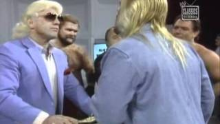 Four Horsemen Promo and Brawl with Michael Hayes NWA 1987
