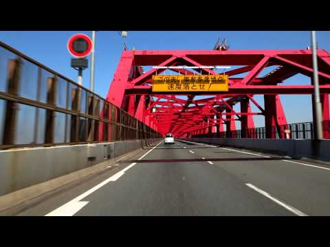 HD Holiday Drive in Osaka Japan 阪神高速 湾岸線 助松 環状線一周 道頓堀