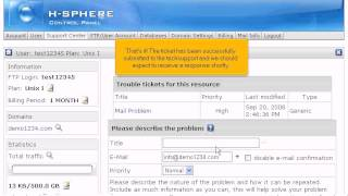 How to configure a Client Support Center in H-Sphere