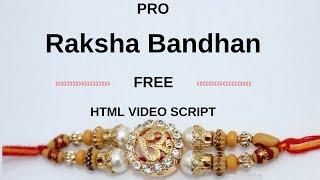 PRO Raksha Bandhan free HTML video script | wishing website new script | whatsapp viral script.