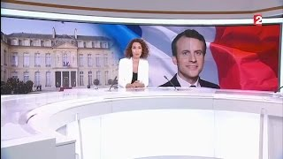 Présidentielle 2017: JT du 8 mai 13h00 France 2 / MACRON élu président de la République