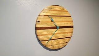 DIY Wall clock from scrap pieces
